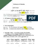 EVIDENCIAS DE YAHOSHUA