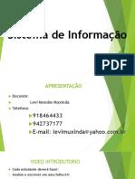 Aula de Sistema de Informação