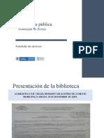 Portafolio Biblioteca Publica Municipal de Rosas
