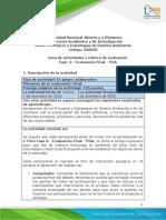 Guía de Actividades y Rúbrica de Evaluación - Unidad 3 - Fase 6 - Evaluación Final - POA