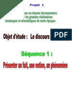 P1 - Séq. 1. Présenter un fait- 11.12