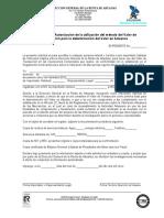 Anexo 6. Solicitud para Autorización de la utilización del método del Valor