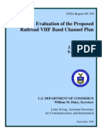 An Evaluation of the Proposed Railroad VHF Band Channel Plan