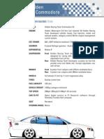 Holden VZ Commodore V8 Supercar Specs