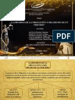 """""""LA PROMESA DE LA OBLIGACIÓN O DEL HECHO DE UN TERCERO"""" - EXPOSICION"""