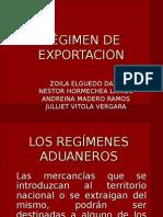 RÉGIMEN DE EXPORTACION