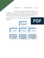 CONCEPTOS, CLASIFICACIÓN Y CARACTERÍSTICAS DE LAS ORGANIZACIONES