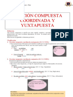 ORACIÓN COMPUESTA COORDINADA Y YUXTAPUESTA
