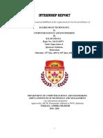 Internship Report Sample 1