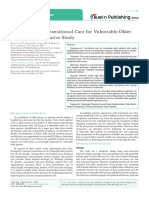 Perspectives on Transitional Care for Vulnerable Older Patients