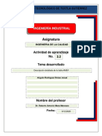 Act. 3.2 Descripción detallada de la tabla AMEF.
