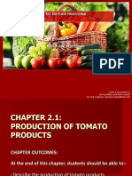 CHAPTER 2.1 - PRODUCTION OF TOMATO PRODUCTS