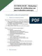 NEUROPSYCHOLOGIE - PLANS DE TRAITEMENTS.docx