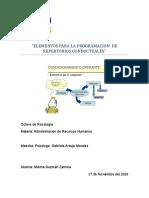 ELEMENTOS PARA LA PROGRAMACION  DE  REPERTORIOS CONDUCTUALE1