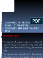 Diagnosis of Pregnancy- Signs, Differential Diagnosis