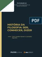 História+da+Filosofia+Ser,+Conhecer,+Dizer+-+Livro+da+Disciplina