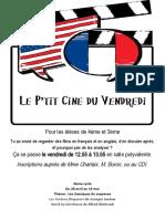 Affiche ciné-club 4e-3e