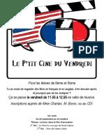 Affiche ciné-club 6e-5e