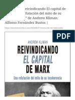 """Reseña de """"Reivindicando El capital de Marx. Una r+"""