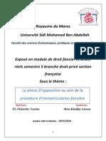 La phase d'Opposition Au Sein de La Procédure d'Immatriculation foncière.
