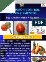 IV. Deterioro y control de los alimentos