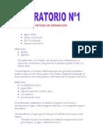 METODO DE SEPARACION