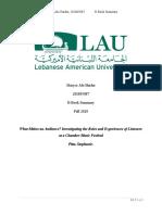 EBook Summary- Maryse Abi Haidar