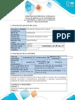Guía de Actividades y Rúbrica de Evaluación - Tarea 2 - Reconocimiento