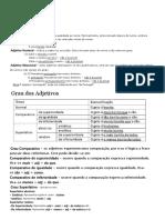 Adjetivo - Grau