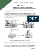 Tema 1 ASPECTOS GENERALES DE SANIDAD ANIMAL