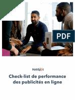 Check-list de performance des publicités en ligne