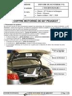 COFFRE MOTORISÉ DE 607 PEUGEOT