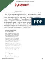 Leiaaqui algumaspoesias de Carlos Pena Filho - Portal Vermelho