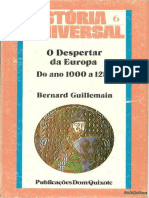 Bernard Guillemain - O Despertar da Europa - do ano 1000 a 1250-Dom Quixote (1980).epub