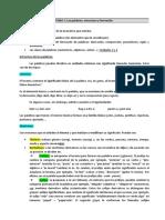 TEMA 1. LAS PALABRAS. ESTRUCTURA Y FORMACIÓN