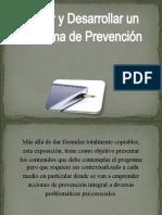 Diseñar y desarrollar un programa de Prevención.2451
