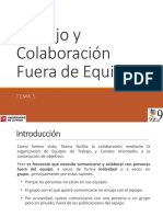5. Trabajo y Colaboración Fuera de Equipo