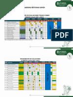 Modificación de Evaluaciones Del Tronco Común 2020-1 y 2020-2 (Segunda publicación)