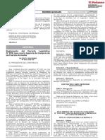 Decreto Supremo N° 001-2020 del Mindef