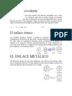 El enlace covalente, etccc
