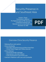 China's Security Presence Mainland Southeast Asia, 2011-20