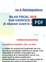 REINTEGRATIONS & DEDUCTIONS NOUVELLE VERSION 2018