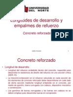 p180416 Clase Diseño 04_Longitud de desarrollo y empalmes de refuerzo