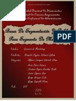 BASE DE SEGMENTACIÓN Y PERFIL DE SEGMENTO