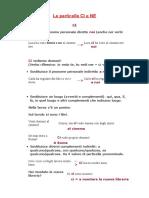 lessico 5 Le particelle CI e NE