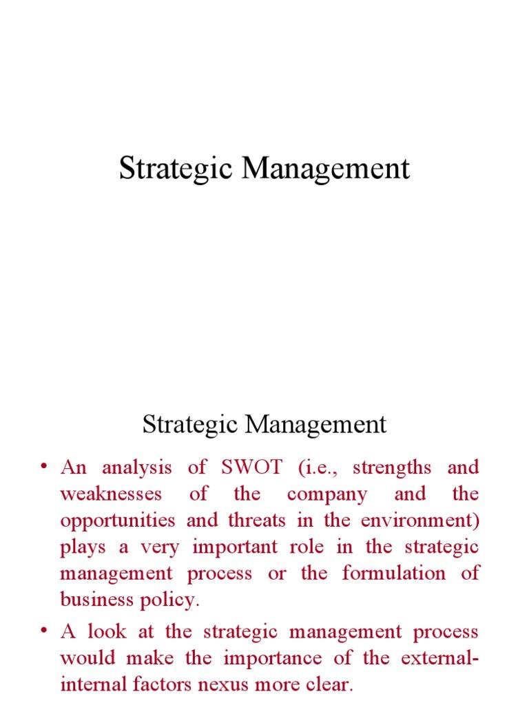 environmental analysis and strategic management