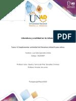 Formato Tarea 4 ajustado 2020-1 -  Implementar actividad de literatura infantil para niños....