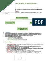 Introduction aux méthodes de chromatographie