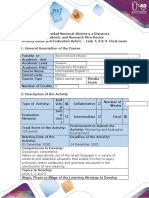 Activity guide and evaluation rubric - Task 7,8, 9 - Final Exam