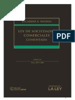 Nissen, Ricardo Augusto (2017). Ley de Sociedades Comerciales Comentada - Tomo III. 1° Ed. Thomson Reuters - La Ley..pdf